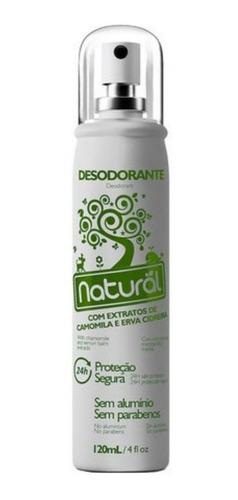 desodorante natural c/ extratos de camomila e erva cidreira