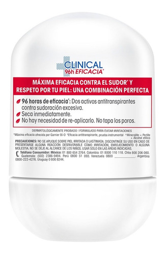 desodorante roll on bio clinical mujer eficacia 50ml garnier