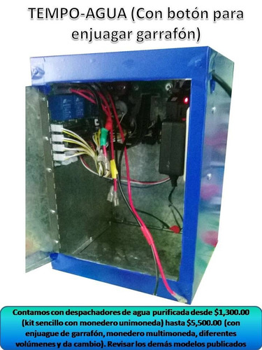 despachador agua purificada /automático/enjuague/multimoneda