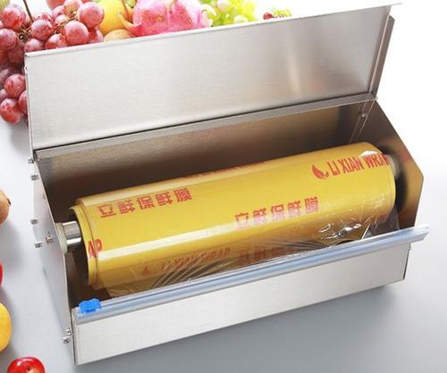 despachador con cortador de vitafilm acero inox rollipak 18