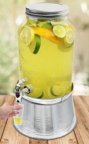 despachador de bebida con frasco de vidrio para envasar de