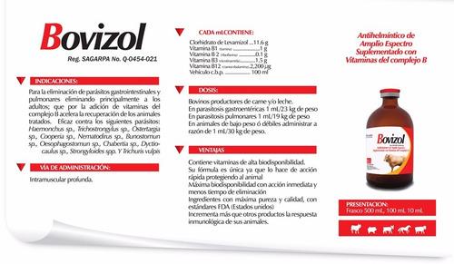 desparasitante vitaminado vacas  bovizol 500 ml biochem