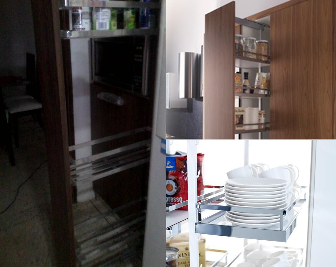 Despensa Extraible Herraje Para Cocinas Venezzi 20,25 Cm S/f - Bs ...