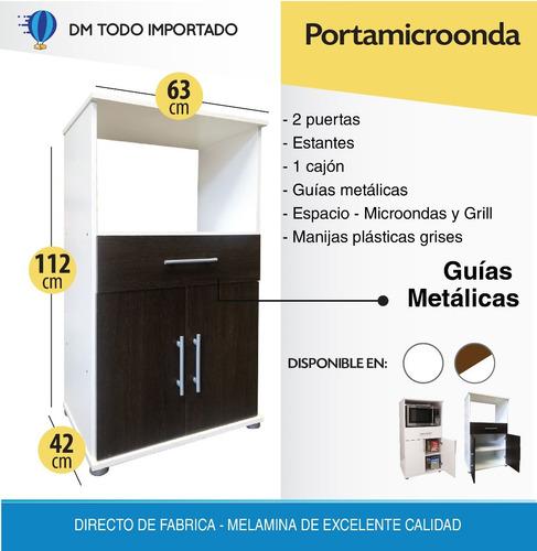 despensero 2 puertas 150 cm organizador + porta microondas