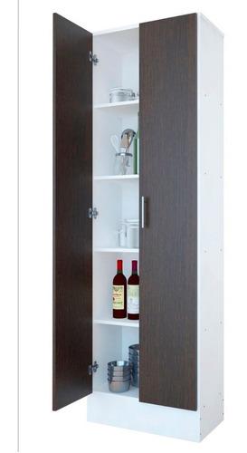 despensero 2 puertas organizador cocina melamina 60x30x180 @