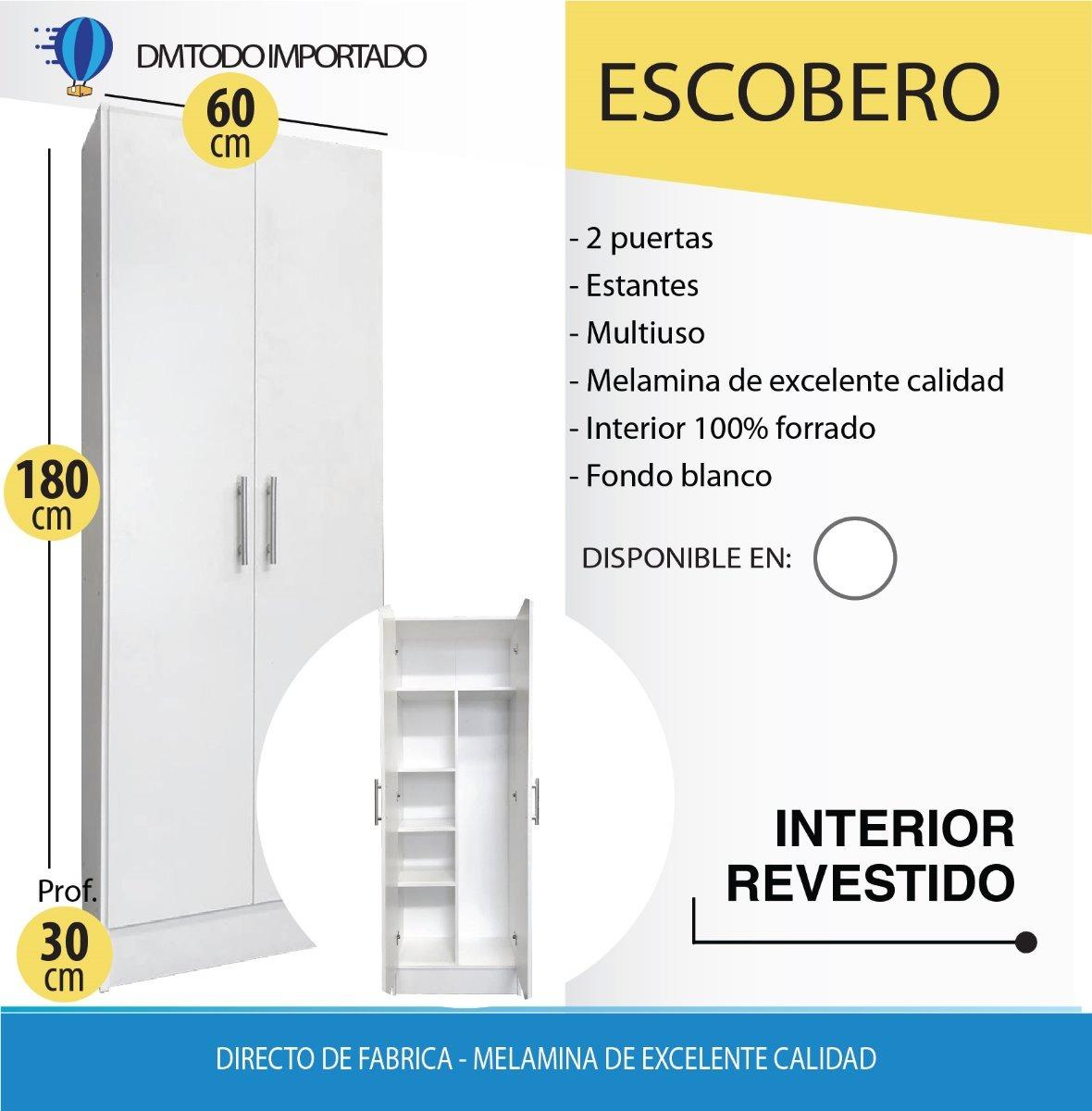 despensero 2 puertas organizador cocina melamina 60x30x180cm. Cargando zoom.  despensero + escobero 1 ae73a6aec0b5