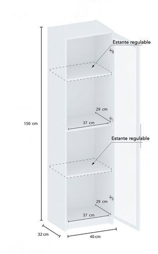 despensero multiuso 1 puerta acrilico centroestant dis1blmac