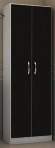 despensero negro organizador 2 puertas wengue 180m multiuso