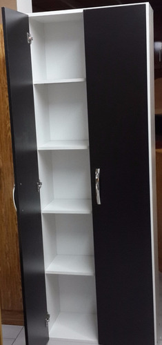 despensero negro organizador 2 puertas wengue 180x60 m