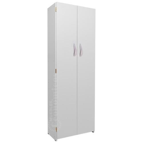 despensero organizador armario armado alto de melamina - 2 puertas 5 estantes 180x60cm - muebles económicos