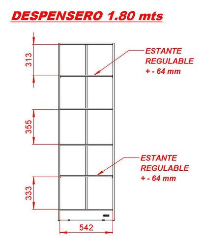 despensero organizador mueble de cocina mosconi 1,80 mts.