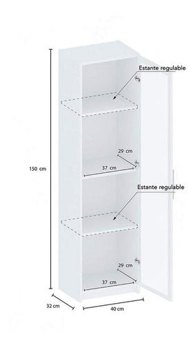 despensero simple organizador puerta 4 estante centro estant