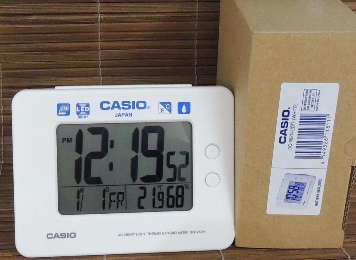 b81f214b030a Despertador Casio Dq-982n-7df -termômetro higrômetro - Nf - R  238 ...
