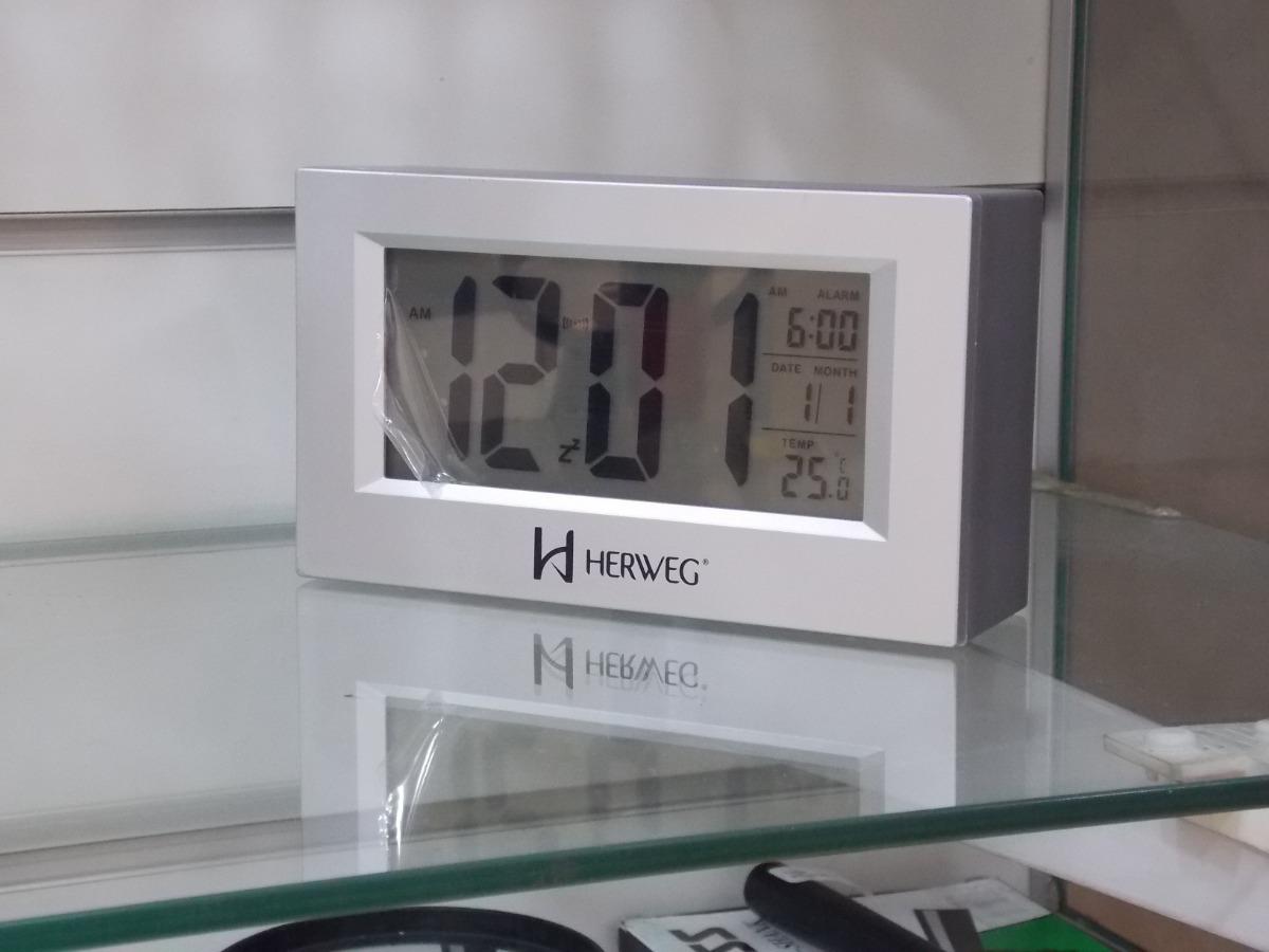 faf7cb355bf Despertador Digital Com Luz Noturna