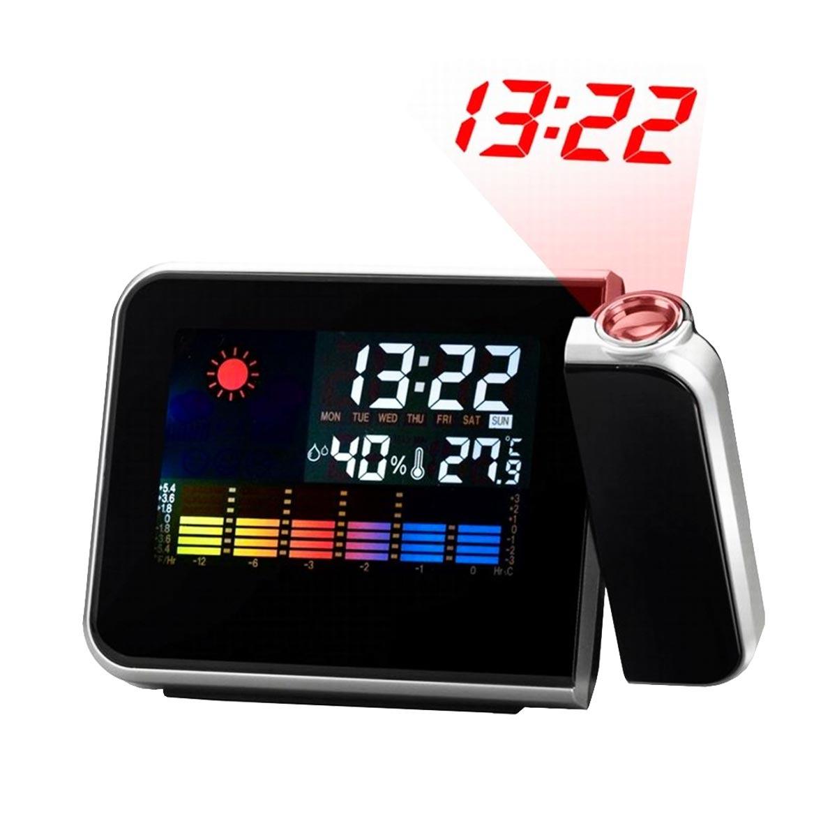952bde23508 despertador digital ds8190 prata com projetor de horas. Carregando zoom.