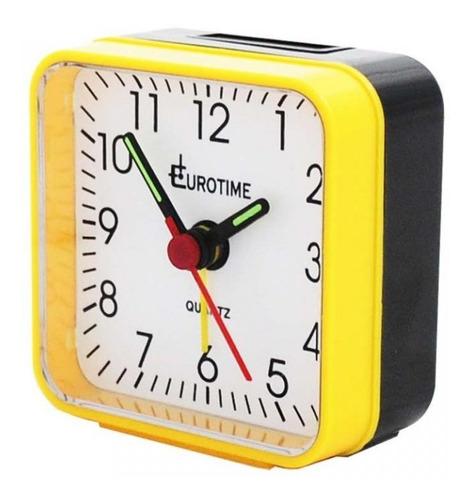 despertador eurotime segundero silencioso alarma