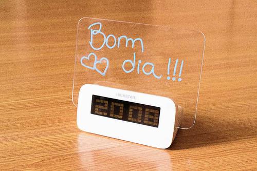 despertador led alarme relógio com lcd para mensagens