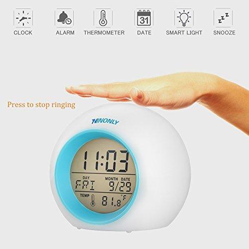 despertador wake up light digital ninonly 6 sonido natural c