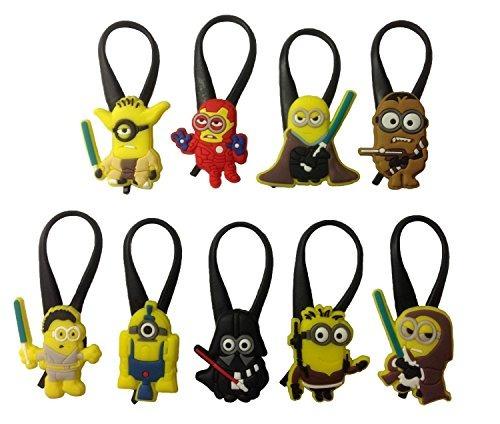 despicable me silicone snap lock zipper pulls 9 pcs set #7