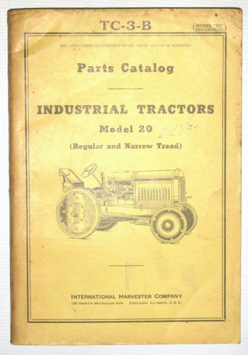 despiece tractor international model 20