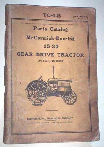 despiece tractor mccormick-deering 15-30