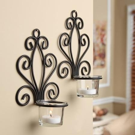desplazarse aplique de la pared candelabros (2-pack)