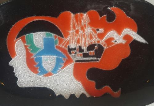 despojador en cobre y esmalte diseño arte retro / vintage