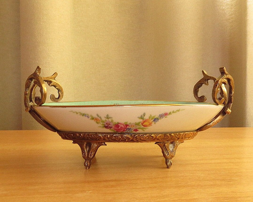 despojador porcelana petit paris, broncería. el restaurador