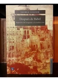 Despues De Babel George Steiner Pdf