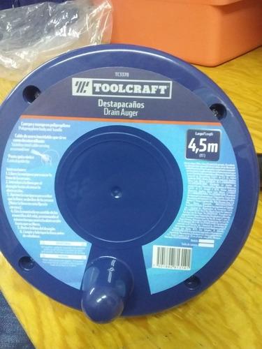 destapacaños toolcraft 4.5mtrs largo