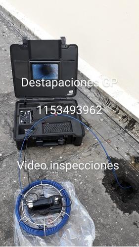 destapaciones cañerias cloacas cocina. video inspecciones