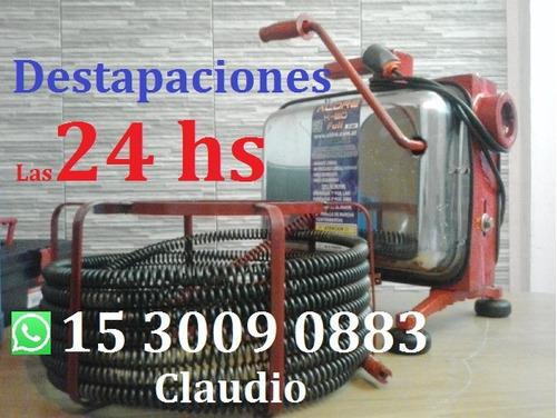 destapaciones en ramos mejia con maquina  las24 hs