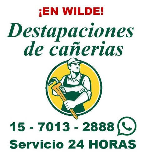destapaciones en wilde cañerias cloacas c/maquina