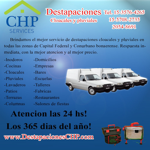 destapaciones zona sur almirante brown 15-6924-0373