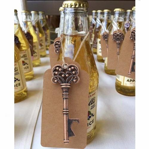 destapador abridor cerveza llavero llave regalo original x10
