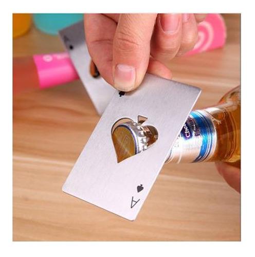destapador botella -- carta poker -- naipe - nuevo