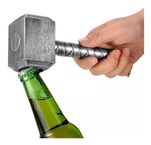 destapador de botellas con forma del martillo de thor tohr