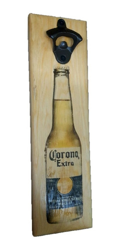 destapador de madera impreso cerveza corona o personalizado