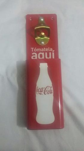destapador metálico coca-cola