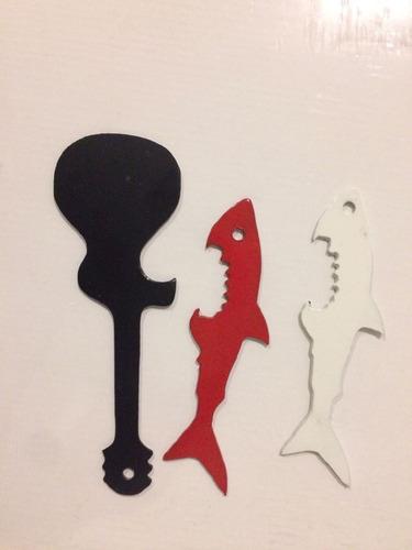 destapador tiburon en metal y abridor o personalizados
