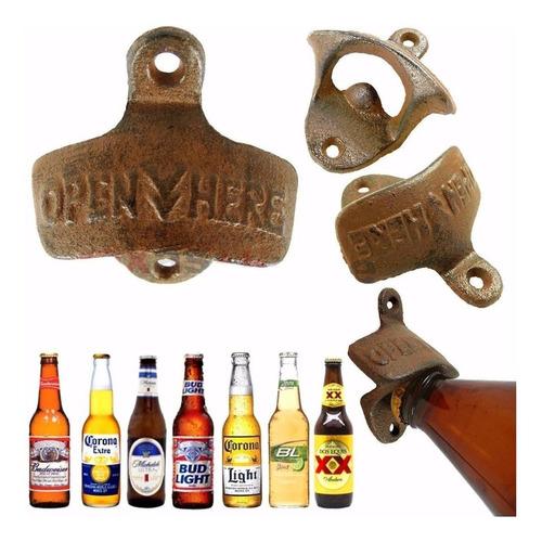 destapador vintage de pared retro cerveza gaseosa acero