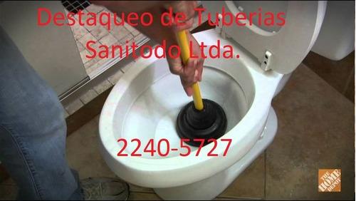 destaqueo de tuberías 8393-0127 sanitodo ltda
