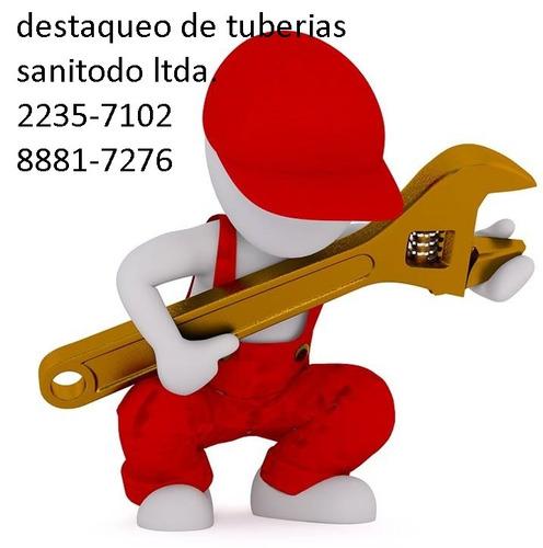 destaqueo tuberías 8393-0127 sanitodo ltda