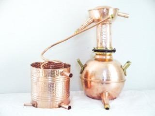 destilador alambique em cobre 6 lts cachaca pinga essencias
