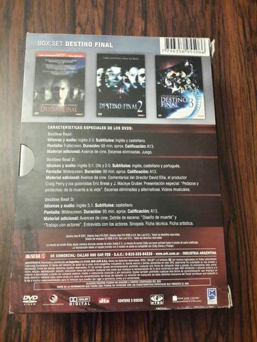 destino final trilogia dvd en caja. cuotas s/interés!!!!!!!!