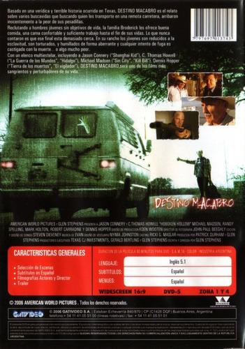 destino macabro ( dennis hopper michael madsen) dvd original