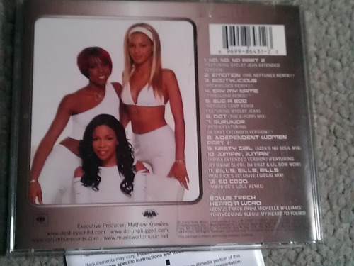 destinys child cd this is the remix importado 12+bonus