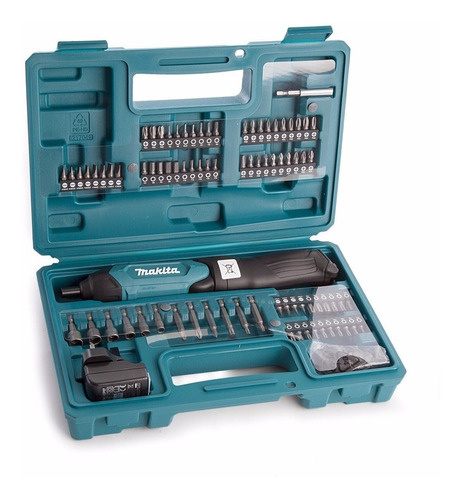 destornillador atornillador inalambrico makita + kit puntas