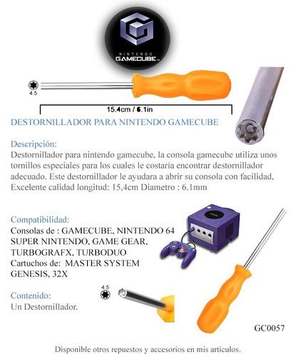 destornillador gamebit super nintendo gamecube n64 consola