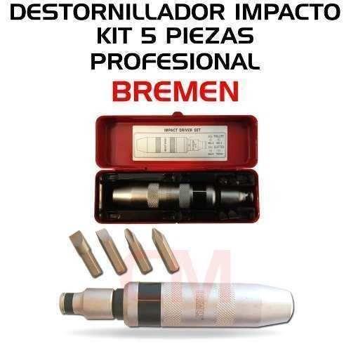 destornillador impacto profesional kit puntas bremen